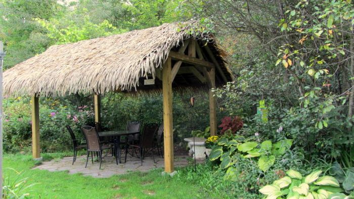 Our Tiki Hut is complete and we are very happy with it.