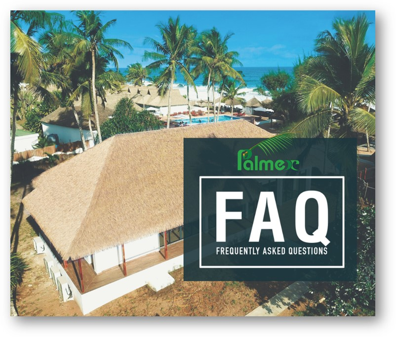 Frequently-asked questions regarding Palmex synthetic thatch roofing